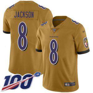 Ravens Lamar Jackson 100th Season Jersey 4